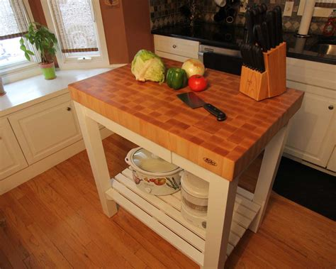kitchen island with chopping block top butcher block end grain maple top island cart mcclure
