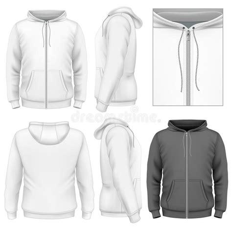 zip hoodie design template men s zip hoodie design template stock vector