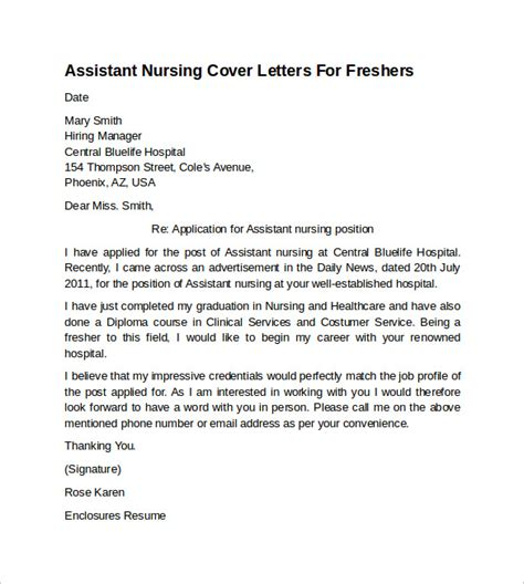 email cover letter for nursing nursing cover letter exle 10 free documents