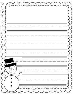 snowman writing paper free snowman at writing paper printables