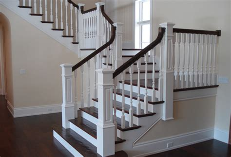 Oak Banister Rail Traditional Stairways And Staircases