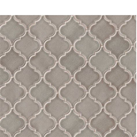 dove gray arabesque lantern mosaic tiles