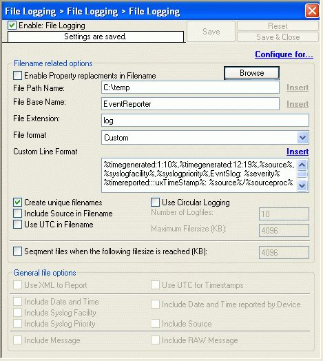 format log file what is the log file format for generating reports with