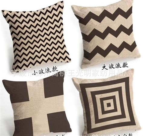free shipping cheap geometrical pattern brown cushion