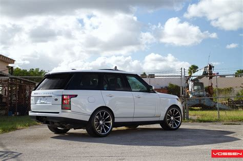 modified 2015 range rover 2013 range rover gets custom vossen wheels