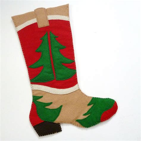 pattern for small felt christmas stocking free cowboy boot christmas stocking pattern dream a