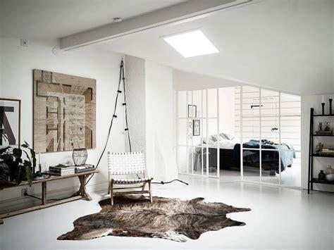 bright and white scandinavian attic