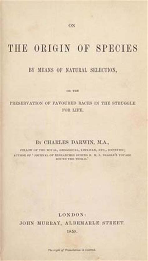 darwin c r 1859 on the origin of species by means of evolution scientific theory britannica com