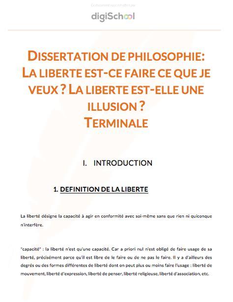 la dissertation definition corrig 233 de dissertation la libert 233 est ce faire ce que