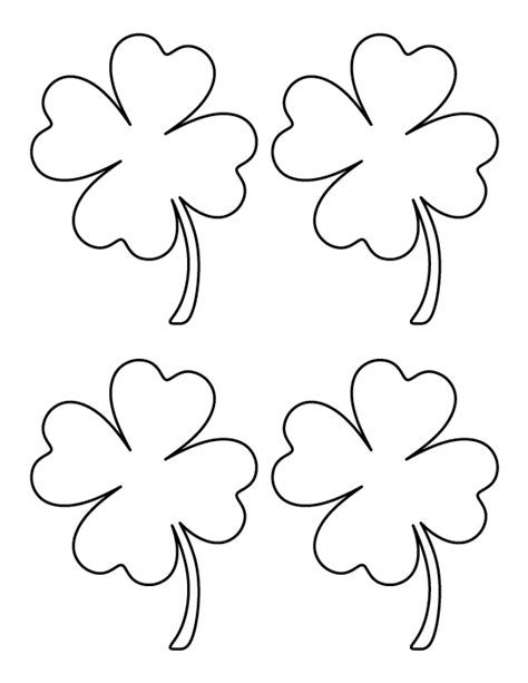four leaf clover template four leaf clover outline cliparts co