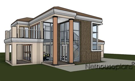 glass house plans modern double storey house plans in t276d nethouseplans