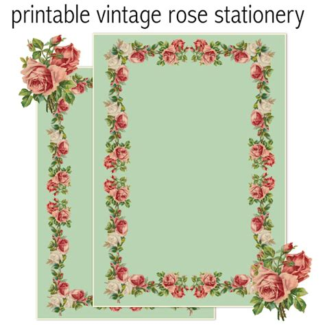 printable vintage stationery free printable vintage rose stationery ausdruckbares