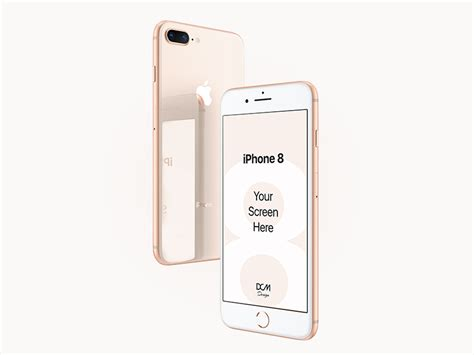 iphone 8 plus screen showcase mockup psd freebie freebie supply