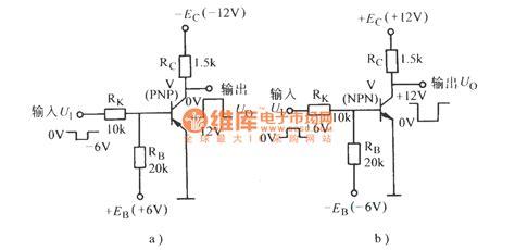 transistor npn inverter transistor inverter circuit basic circuit circuit diagram seekic
