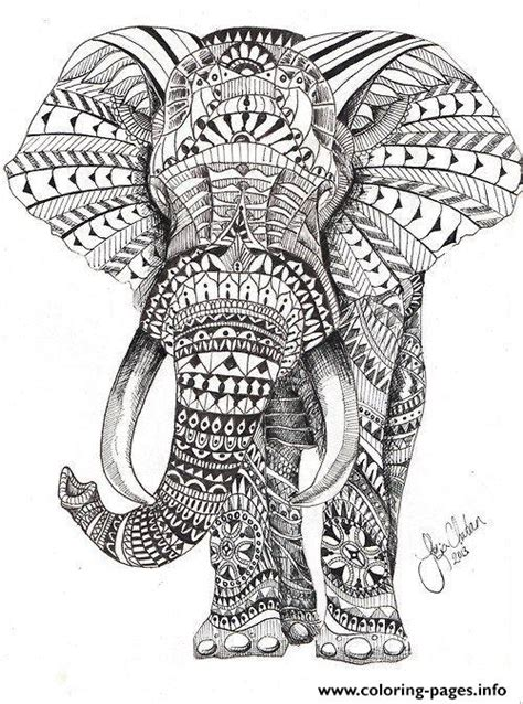 difficult pattern in c elephant for adults color hard difficult coloring pages