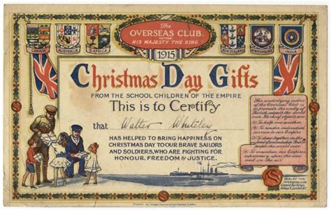 christmas gifts for ww1 troops