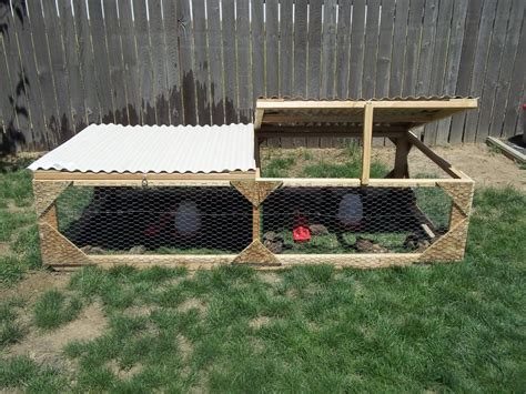 backyard quail coop coop 4 x8 mobile quail chicken duck tractor quot eastern