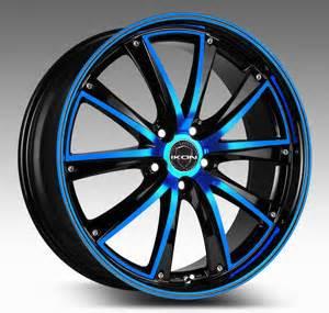 Wheels Blue Truck With Motorcycles Turbine Blue Ikon Wheels