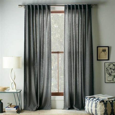 Superbe La Plus Belle Maison #8: Rideau-ocultant-gris-salon-avec-murs-gris-ikea-rideaux-gris-intérieur-moderne.jpg