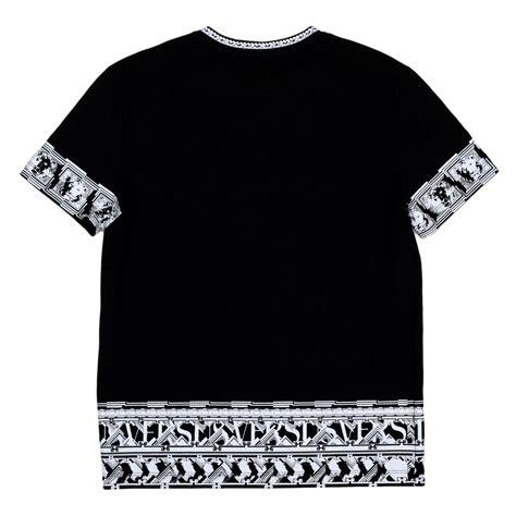 Sleeve Printed T Shirt buy black sleeve printed t shirt by versace