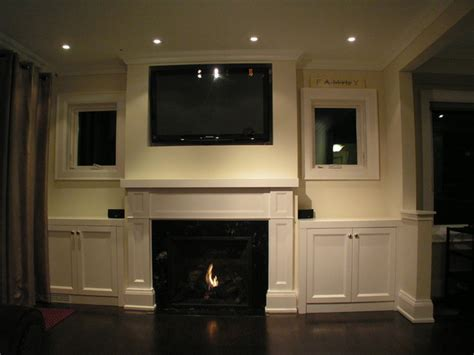 fireplace built in cabinets fireplace mantel with built in cabinets traditional