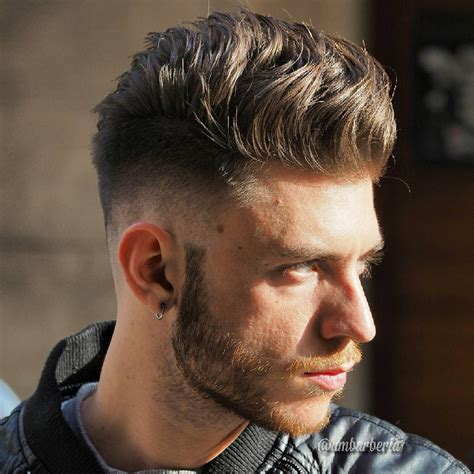 mens hairstyle raised in center blowout hairstyles 40 hot blowout haircut styles for men