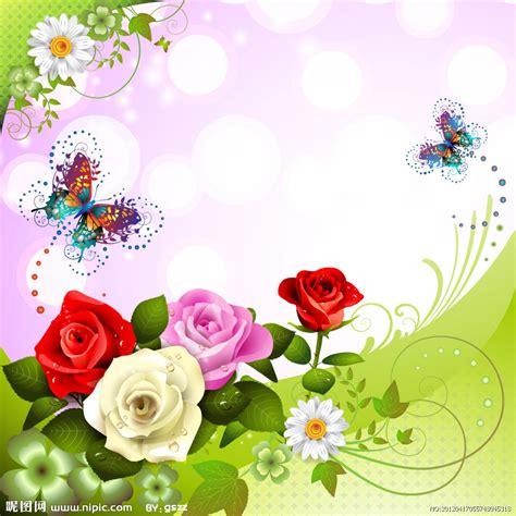imagenes de flores y mariposas animadas fondos de rosas y mariposas en vectores