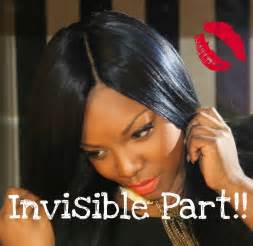 invisible part hair style how to flawless invisible part youtube