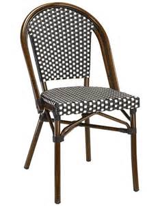 Wicker Bistro Chairs Black White Rattan Weave Bistro Aluminum Restaurant Chairs Beautiful Durable High Quality
