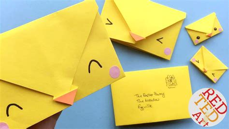 origami envelope paper crafts for ted