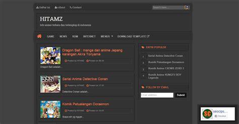free blogger themes dark templates blogger hitamz dark responsive v2 templates fansub