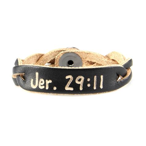 jeremiah 29 11 scripture bracelet personalized leather