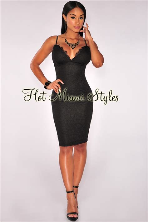 Warm Black Flower Textured Skirt 42164 black floral textured lace neckline padded dress