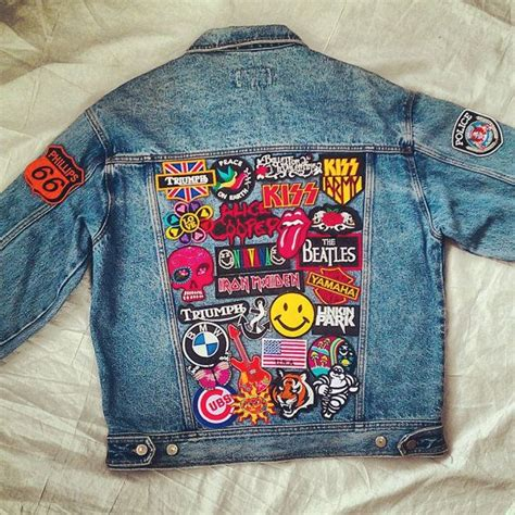 Patches Denim Size Sml patched denim reworked vintage denim jacket with patches size m vintage