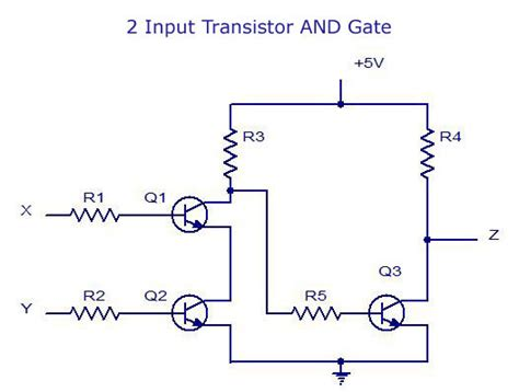 pnp transistor and gate digital electronics logic gates basics tutorial circuit symbols tables