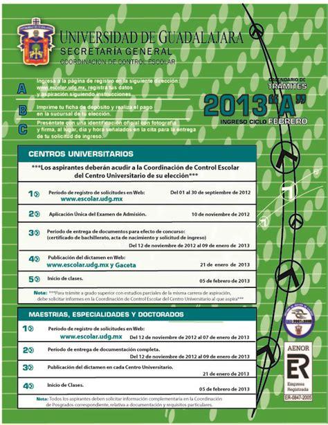 Calendario A Udg Calendario De Tr 225 Mites 2013 Quot A Quot Centros Universitarios