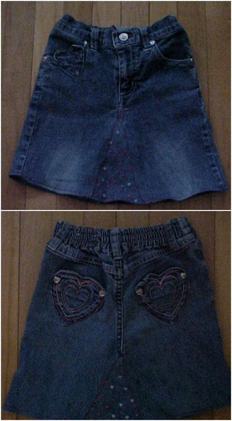 pattern for turning jeans into a skirt 40 incredible repurposing projects for old jeans that you