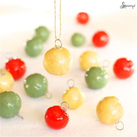 small christmas balls diy mini ornaments easy to make spunnys