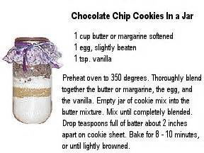 printable cookie jar recipes basic chocolate chip cookies recipe jars printable