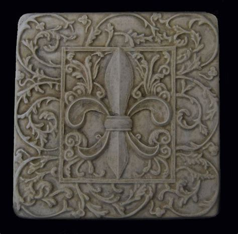 fleur de lis decorative backsplash tile