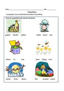 worksheets for grade 3 english grammar prepositions