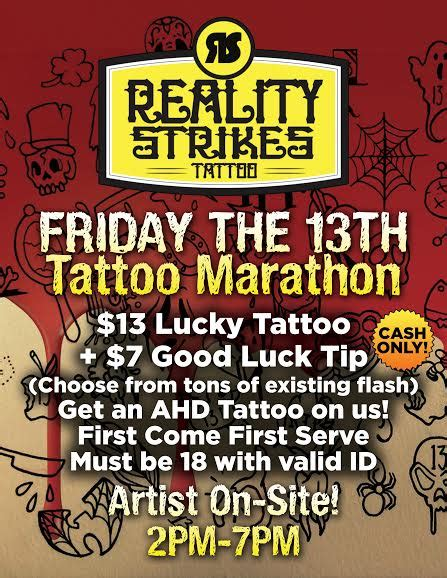 friday the 13th tattoo deals and