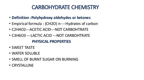 carbohydrates definition chemistry chemistry of carbohydrates
