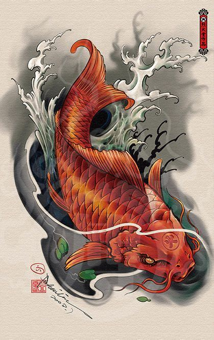 tattoo art koi fish 2014 drawing 50 japanese art tattoos pinterest