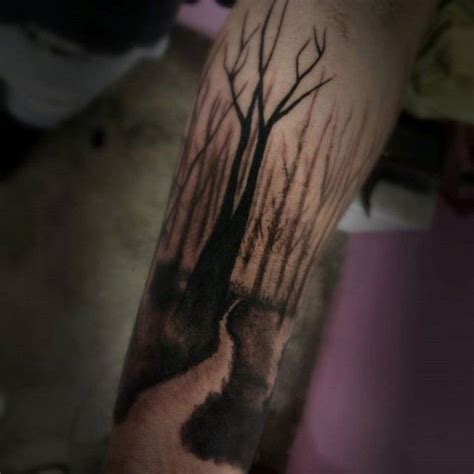 trail tattoos best 25 forearm tree ideas on