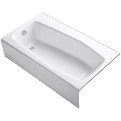 60 x 34 bathtub villager alcove 60 quot x 34 quot soaking bathtub wayfair