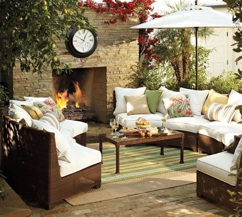 pottery barn interior design designing outdoor living room w palmetto sectional by pottery barn interior design
