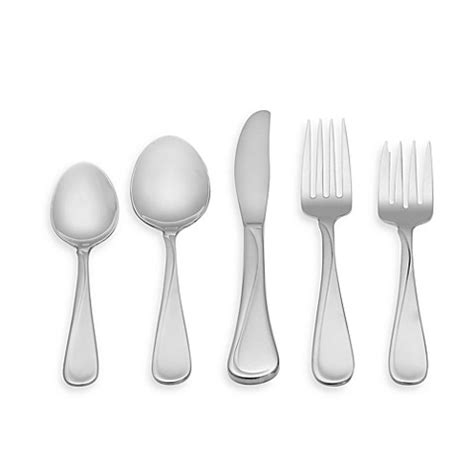 bed bath and beyond flatware oneida 174 flight 45 piece flatware set bed bath beyond