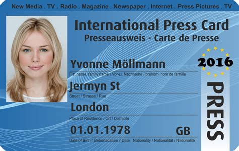 the press interactive card templates i i order international press card press pass membership free