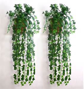 Ivy Home Decor by Artificial Ivy Leaf Garland Plants Vine Fake Foliage